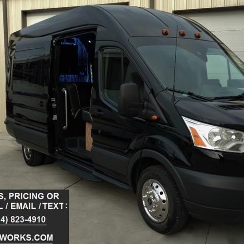 15 Passenger Ford Transit High Top: LGE Coachworks